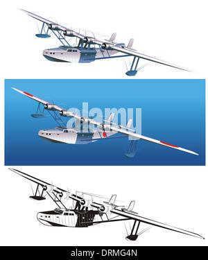 Retro Wasserflugzeug - Stock Photo