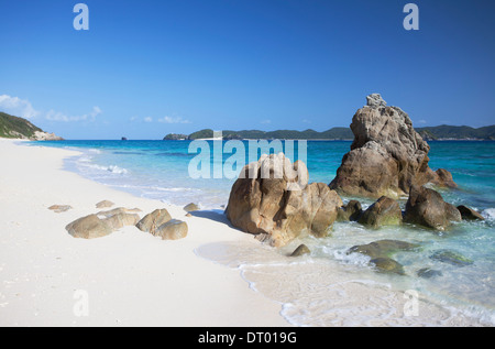 Nishibama Beach, Aka Island, Kerama Islands, Okinawa, Japan - Stock Photo