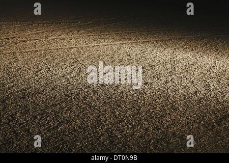 Black Rock Desert Nevada USA Dry desert surface at night in Black Rock Desert - Stock Photo