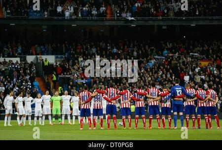 Madrid, Spain. 5th Feb, 2014. Real Madrid vs Atletico Madrid, Spanish King's Cup Semifinal 1st match on february - Stock Photo