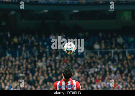 Madrid, Spain. 5th Feb, 2014. Diego Costa (Atletico Madrid) during the Spanish King's Cup Semifinal, between Real - Stock Photo
