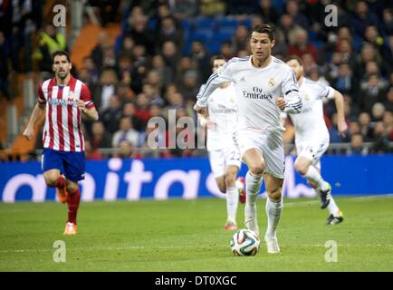 Madrid, Spain. 5th Feb, 2014. Cristiano Ronaldo during the Copa del Rey, round of 2 match between Real Madrid and - Stock Photo