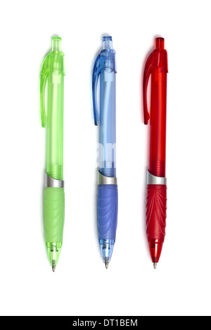 colorful ball point pens - Stock Photo