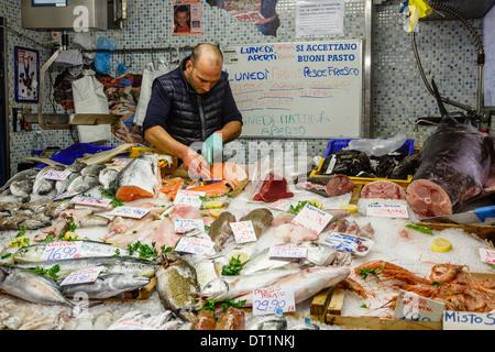 Mercato Orientale (Eastern Market), Genoa, Liguria, Italy. - Stock Photo