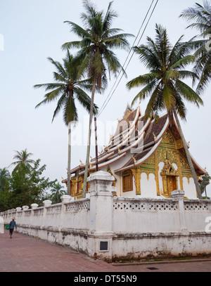 A view of Haw Pha Bang (the Golden Hall) in Luang Prabang, Laos. - Stock Photo