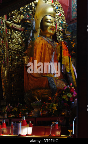 The Lama Temple Yonghe Gong) in Beijing, China - Stock Photo