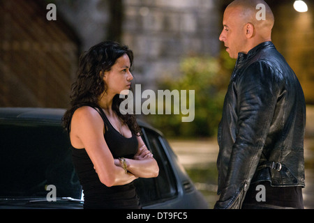MICHELLE RODRIGUEZ & VIN DIESEL THE FAST AND THE FURIOUS 6 (2013) - Stock Photo