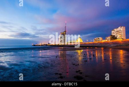 Bremerhaven, Germany , the Atlantic Hotel Sail City - Stock Photo