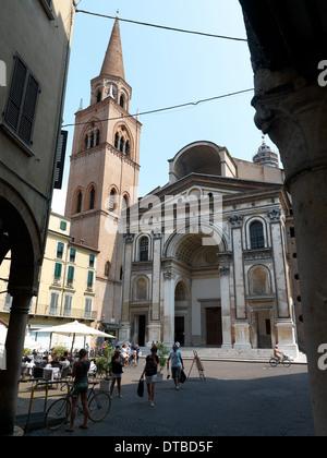 Mantua , Italy, in Piazza Sant'Andrea Andrea Mantegna - Stock Photo