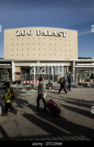 Berlin, Germany, the zoo Palace under reconstruction - Stock Photo
