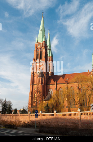 Saint Antoni's basilica in Rybnik in Silesia - Poland - Stock Photo