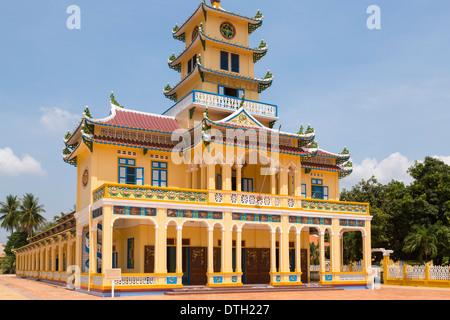 Cao Dai temple, Tay Ninh, Vietnam - Stock Photo