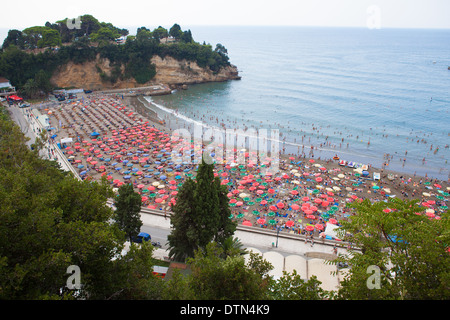 Mala Plaza (small beach), Ulcinj, Montenegro - Stock Photo