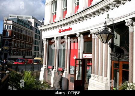 santander bank in ludgate hill london ec4 uk 2014 - Stock Photo