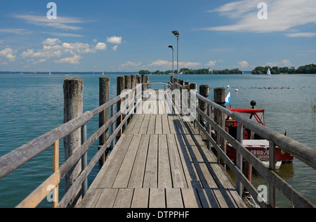 View to Fraueninsel, Chiemsee, Bavaria, Germany - Stock Photo
