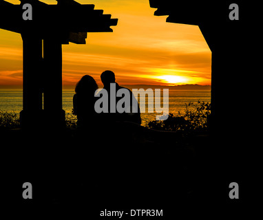Laguna Beach, California sunset. - Stock Photo