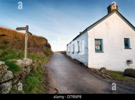 Porthgwarra a tiny coastal village on the Lands End Peninsula near Penzance in Cornwall - Stock Photo