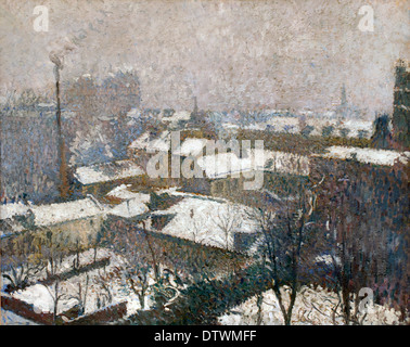 Toits de Paris sous la Neige - Roofs of Paris in the Snow 1910  Henri Martin 1860-1943  France French - Stock Photo