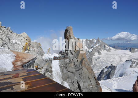 view from aiguille du midi,france - Stock Photo