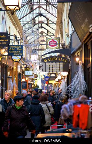 Passage Des Panoramas, Paris, France, Western Europe. - Stock Photo