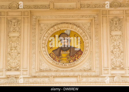 The Romanian Athenaeum (Romanian: Ateneul Român) is a concert hall in the center of Bucharest, Romania - Stock Photo