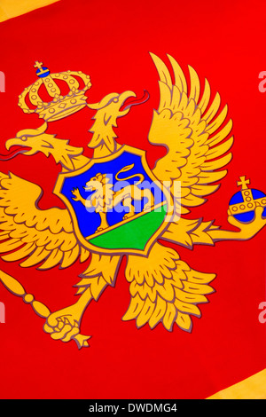 National flag of Montenegro - Stock Photo