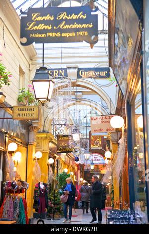 Passage Des Panoramas, Paris, France, Europe - Stock Photo
