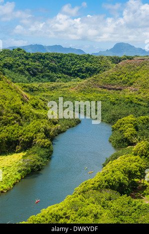 The Wailua River, Kauai, Hawaii, United States of America, Pacific - Stock Photo