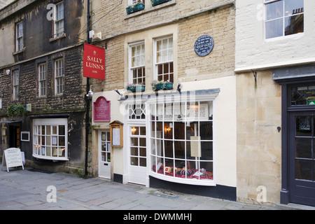 Sally Lunns tea room, Bath, England - Stock Photo