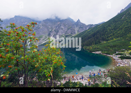 Lake Morskie Oko (Eye of the Sea), Zakopane, Carpathian Mountains, Poland, Europe - Stock Photo