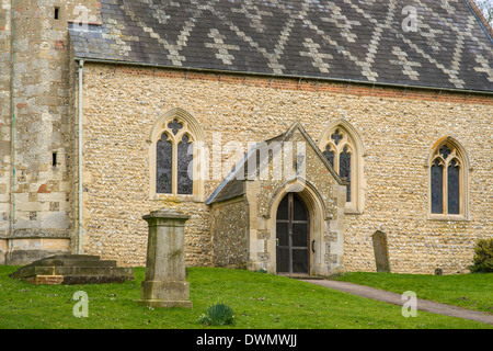 Grade 1 listed Church of St. Mary the Virgin, Church End, Kensworth, Bedfordshire, England, UK. - Stock Photo