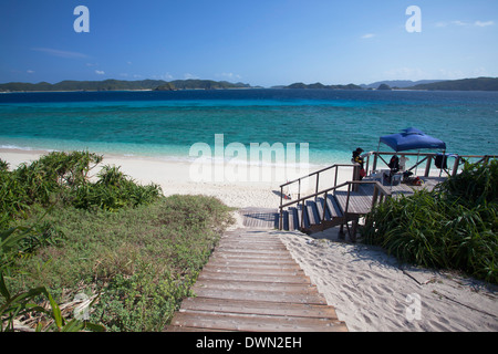 Nishibama Beach, Aka Island, Kerama Islands, Okinawa, Japan, Asia - Stock Photo