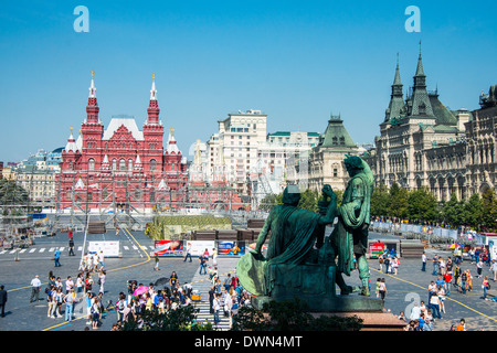 View over the Red Square, UNESCO World Heritage Site, Moscow, Russia, Europe - Stock Photo