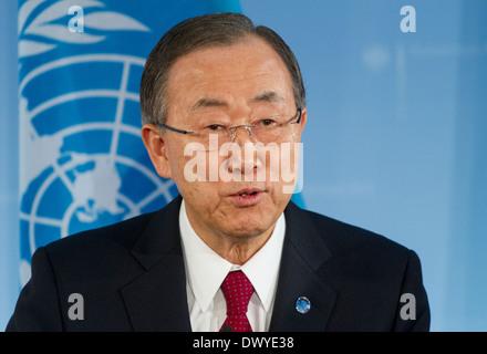 Berlin, Germany, UN Secretary General Ban Ki -moon - Stock Photo