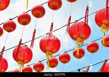 Chinese red lanterns - Stock Photo
