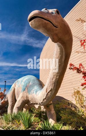 Diplodocus, Jurassic Period, replica, Dinosaur Garden, Utah Field House of Natural History State Park Museum, Vernal, - Stock Photo