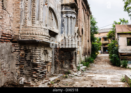Ruined old church at Tbilisi Old Town, Georgia - Stock Photo