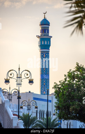 Mosque in the center of Muscat, Oman - Stock Photo