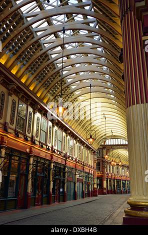 Leadenhall Market, Gracechurch Street ,City of London, United Kingdom - Stock Photo