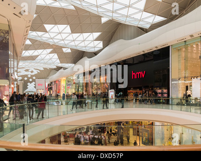Westfield Shopping Centre in West London, England, UK - Stock Photo