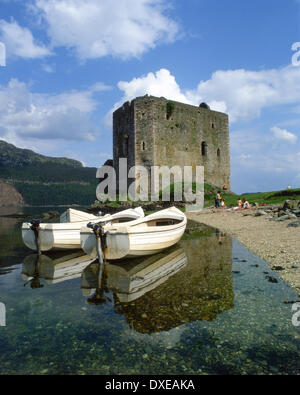 peaceful reflections on the shore of loch goil near carrick castle Lochgoilhead,argyll - Stock Photo