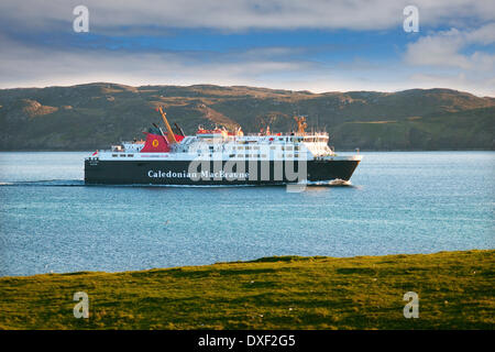 Caledonian-macbrayne ferry 'Isle of Lewis' arrives in Stornoway harbour from Ullapool.Stornoway,lewis,outer-hebrides. - Stock Photo