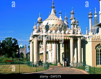 The royal pavilion situated in brighton sussex england. - Stock Photo