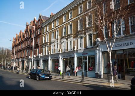 King's Road, Chelsea, London, UK - Stock Photo