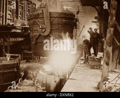 Steelworks Pittsburg Pennsylvania USA early 1900s - Stock Photo