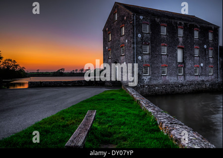 Carew Tidal Mill, Carew, Pembrokeshire, Wales in the United Kingdom - Stock Photo