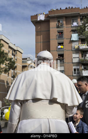 Italy,Rome. 6th April, 2014. Pope Francis visiting the Roman Parish of St. Gregorio Magno Credit:  Realy Easy Star/Alamy - Stock Photo