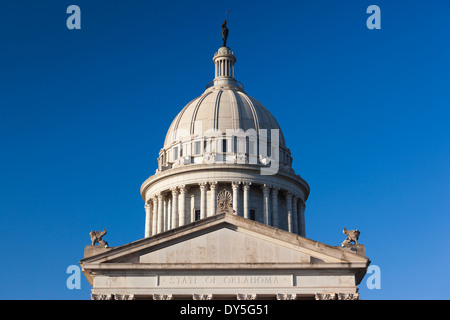 USA, Oklahoma, Oklahoma City, Oklahoma State Capitol Building - Stock Photo