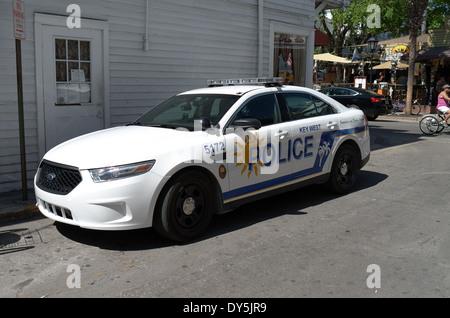 Key West, Florida, Police Car - Stock Photo