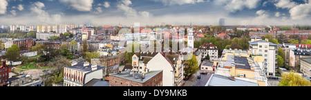 Panoramic view of European city, Szczecin (Stettin), Poland - Stock Photo